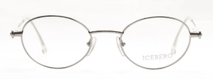 Iceberg Silver Vintage Oval Prescription Spectacles Frames