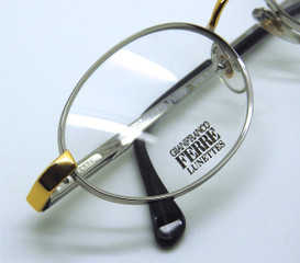 Gianfranco Ferre 360 Silver Oval Frames with gold detail