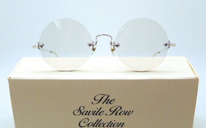 Savile Row vintage true round frames suitable for prescription lenses from The Old Glasses Shop Ltd
