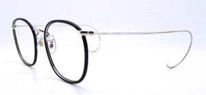 Side view of Quadra Vintage Savile Row Frames from The Old Glasses Shop