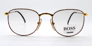 BOSS vintage Gold and brown patterned glasses.