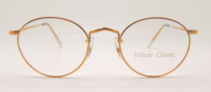 Rolled Gold Oval designer glasses Hand Made in London at Algha Works from The Old Glasses Shop Ltd