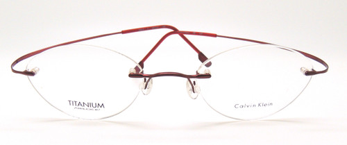 CK500/5 Titanium Rimless Oval Frames