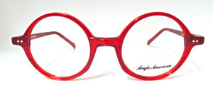 Bright Red Round Glasses Frames