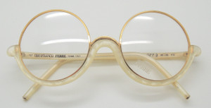 Buy Online Gold And Cream Round Prescription Eyewear from www.theoldglassesshop.com