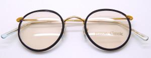 Panto gold prescription eyewear from www.theoldglassesshop.com