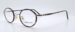 Vintage 455 Ralph Lauren Polo Silver Eyeglasses With Tortoiseshell Rims