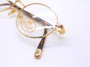 US Vintage WILLIS & GEIGER Round Style Pinnacle 2 Gold Ornate Frames Eyeglass Frames