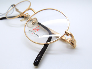Gold Plated YAMAMOTO Design 6103 Oval Vintage Glasses 47mm