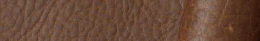 Adobe-colored buffalo leather hides and sides