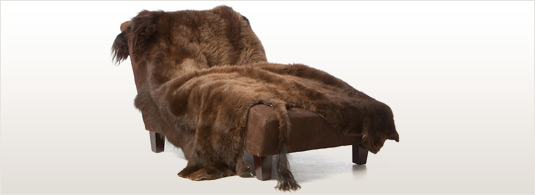 Shave, tanned buffalo leather hides