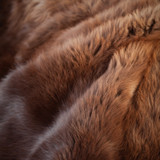 Shaved, tanned bison leather hide