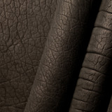 Ute 'Heavy' black American Buffalo leather (Bison leather) sides