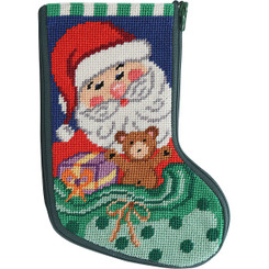 Santa and Toys Mini Stocking