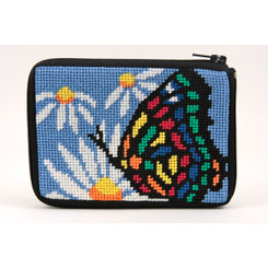 Butterfly and Daisy Coin Purse