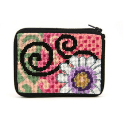 Daisy Swirl Coin Purse