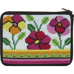 Pink and Orange Poppies Coin Purse