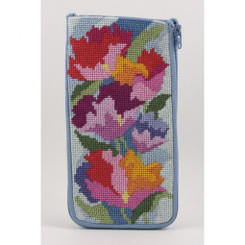 Watercolor Poppies Eyeglass Case