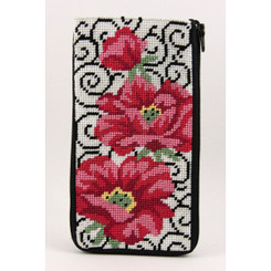 Poppies on Scrolls Eyeglass Case