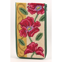Red Poppies - Gold Eyeglass Case
