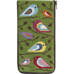 Birds of Color Eyeglass Case