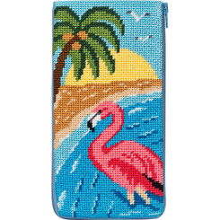 Flamingo Eyeglass Case