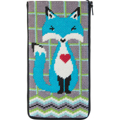 Blue Fox Eyeglass Case