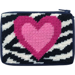 Zebra Heart Kids Coin Purse