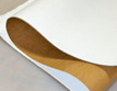 "White Polyester, Adhesive-Backed, 1/4"" thick (6.35mm) Thick x 60"" Wide, Firm Density"