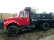 2001 International 4900 Single Axle Dump Truck used for sale