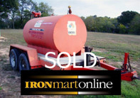500 Gallon Trailer Mounted Diesel Fuel Tank used for sale