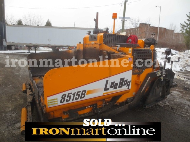 2010 leeboy 8515b paver in very good condition for Leeboy motor grader for sale