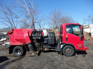 2007 Isuzu NPR with Tymco 210 Sweeper used for sale