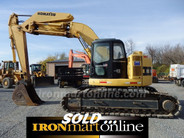 Komatsu Excavator PC228UU zero swing knuckle boom used, in very good condition.