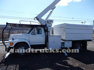 Used 1998 Ford F Series Forestry Bucket Truck for Sale