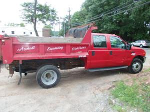 2000 Ford F-450 XLT Super Duty Crew Cab Mason Dump 7.3 Stick