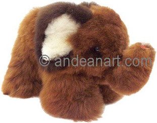 "Alpaca Fur Elephant 6.5"" - Assorted Color - 15951603"