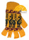 Fingerless Alpaca Gloves with Alpaca Motif for Children - Earth - 16783212