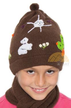 Applique Beanie Alpaca Hat for Children - 16752214