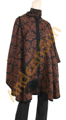 "Alpaca Blend Ruana / Cape with scarf ""Baroque"" - US STOCK"