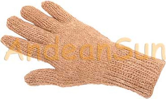 100% Alpaca Gloves SOLID COLORS (HandSpun - HandKnitted - UNDYED Natural Alpaca Colors) - Rustic Quality - 16783004