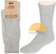 Men's Ribbed Crew Alpaca Socks by AndeanSun - Ash Light Grey - 16711701