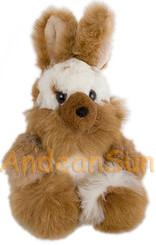 "Alpaca Fur Rabbit 11"" (fur to fur) - 9"" (hide to hide) Sitting - Assorted Color - 15971602"