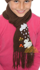 Applique Children's Alpaca Scarf - Alpaca Blend - Rustic Quality - US STOCK