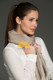 100% Baby Alpaca Herringbone Woven Scarf HIGH END - Light Rose Brown and Ivory - 16774201