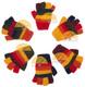 Fingerless Full Color Striped Alpaca Gloves for Children - Earth - 16783222