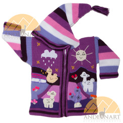 Children's Hooded Cardigan for Children with Appliques - Bold - 16261731