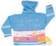 Children's Hooded Cardigan for Children with Appliques - Pastel Blue - 16261731