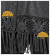 Short Alpaca Cape with Hand Crocheted Roses - Alpaca Carrasco - Grey - 16833522