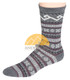 Fair Isle Crew Alpaca Socks by AndeanSun - Grey - 16711723
